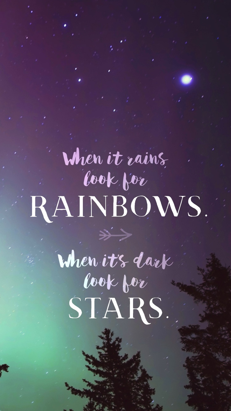 When it rains look for rainbows phone wallpaper and - Inspirational phone wallpaper ...