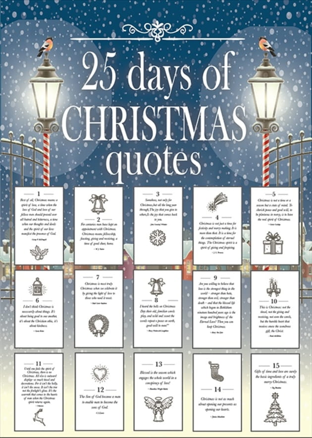 25 Days of Christmas Quotes