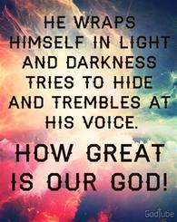 He Wraps Himself In Light