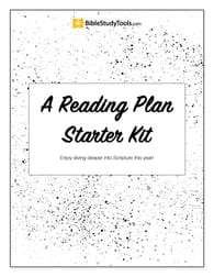 A Reading Plan Starter Kit