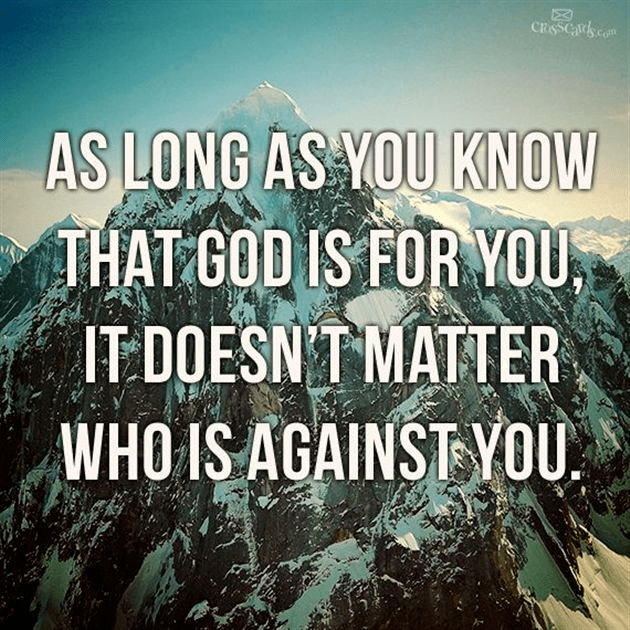 God Is For You!