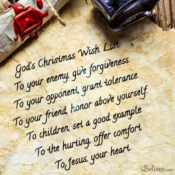 God's Christmas Wish List