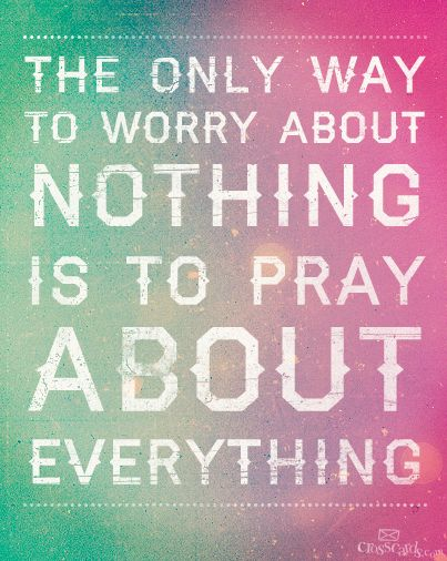 The Only Way to Worry About Nothing
