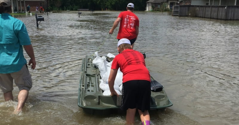 Neighbor Helping Neighbor in Baton Rouge