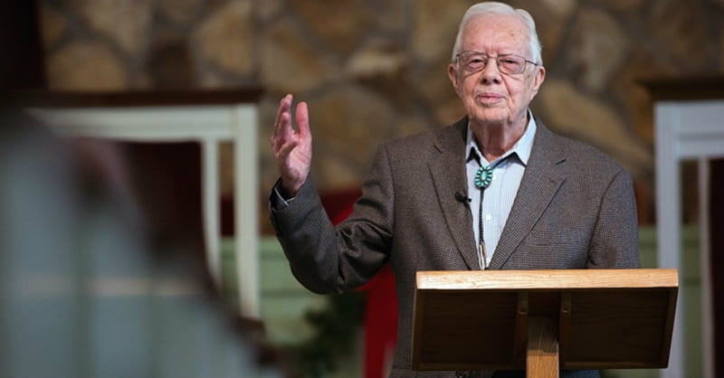 A Bible Study Led by 92-Year-Old Jimmy Carter is a Sight to Behold
