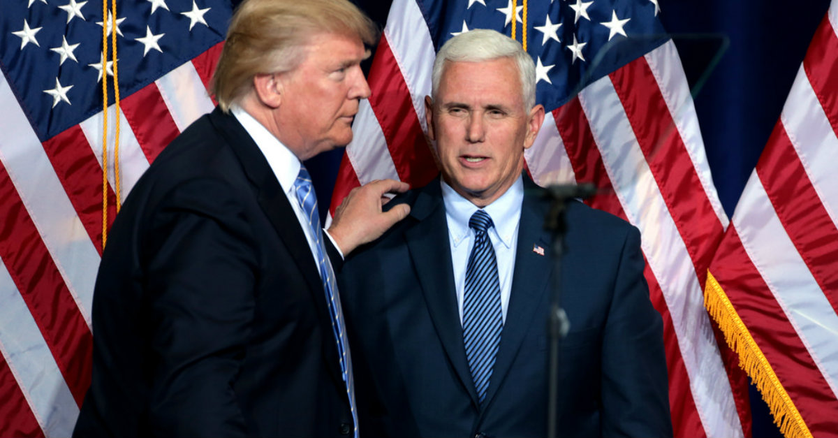Report Claims Trump Jokes about Pence's Faith