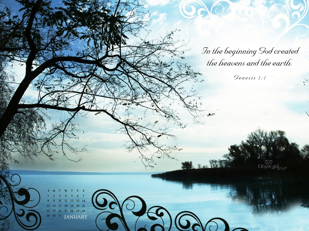 Jan 2012 - Genesis 1:1 - Wallpaper