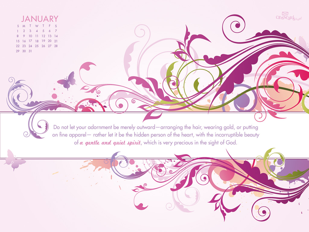 Jan 2012 - 1 Peter 3:3-4 - Wallpaper