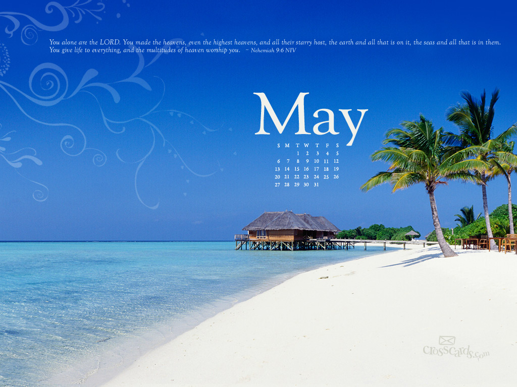Calendar Wallpaper May : May neh desktop calendar free monthly