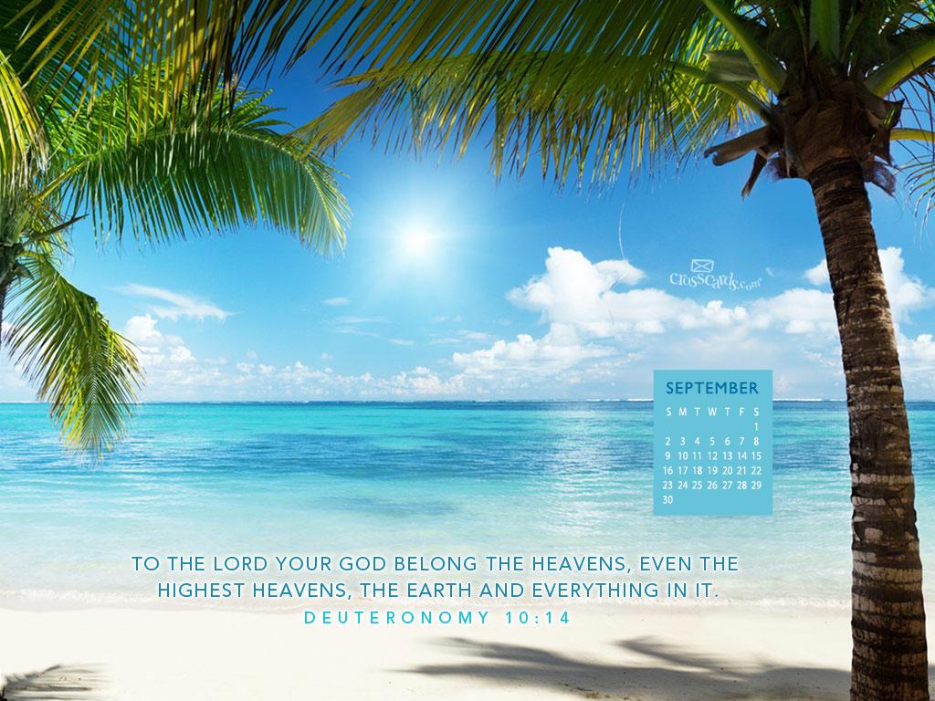 Christian Wallpaper Calendar : Sept heavens desktop calendar free monthly