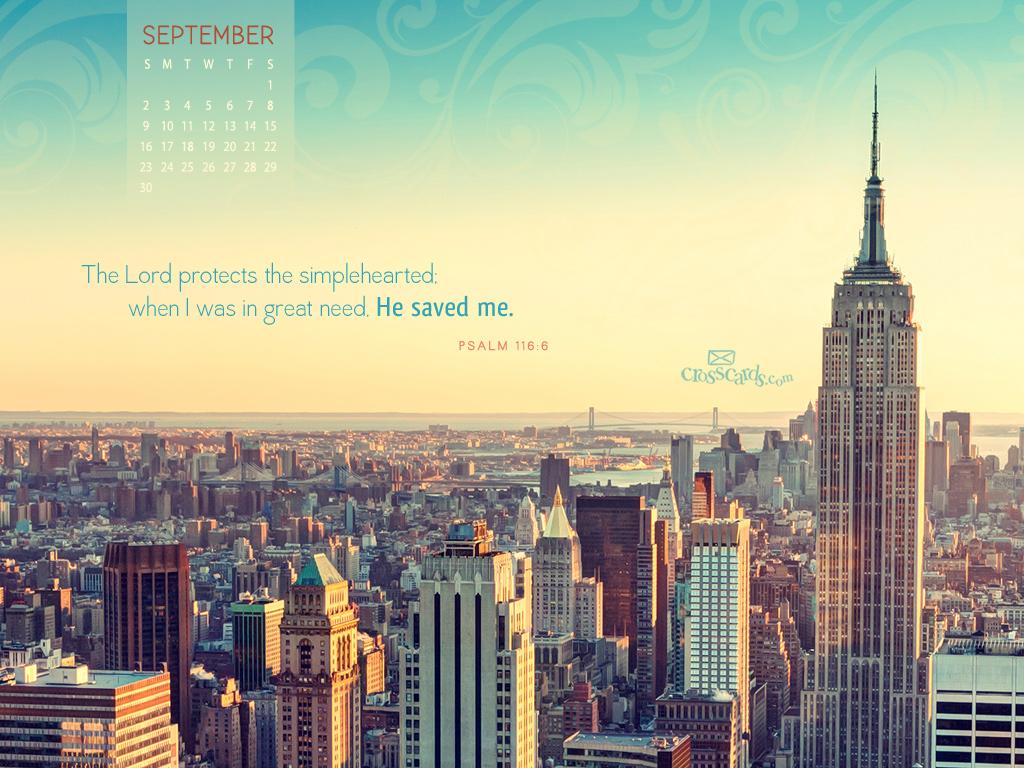 Sept. 2012 - Psalm 116:6