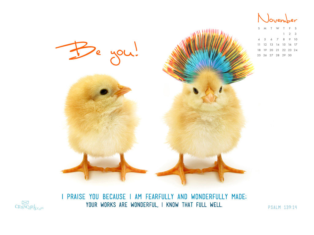 Nov 2012 - Be You - Wallpaper