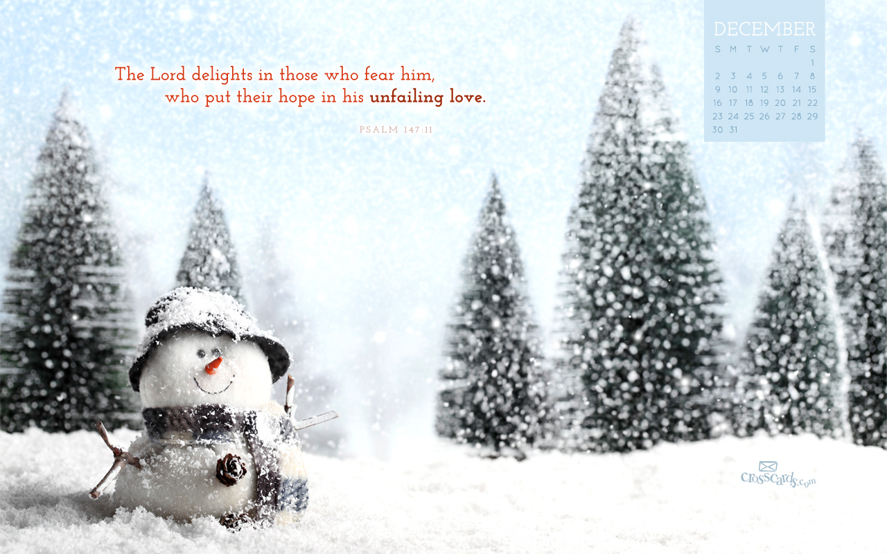 Dec 2012 - Snowman - Wallpaper