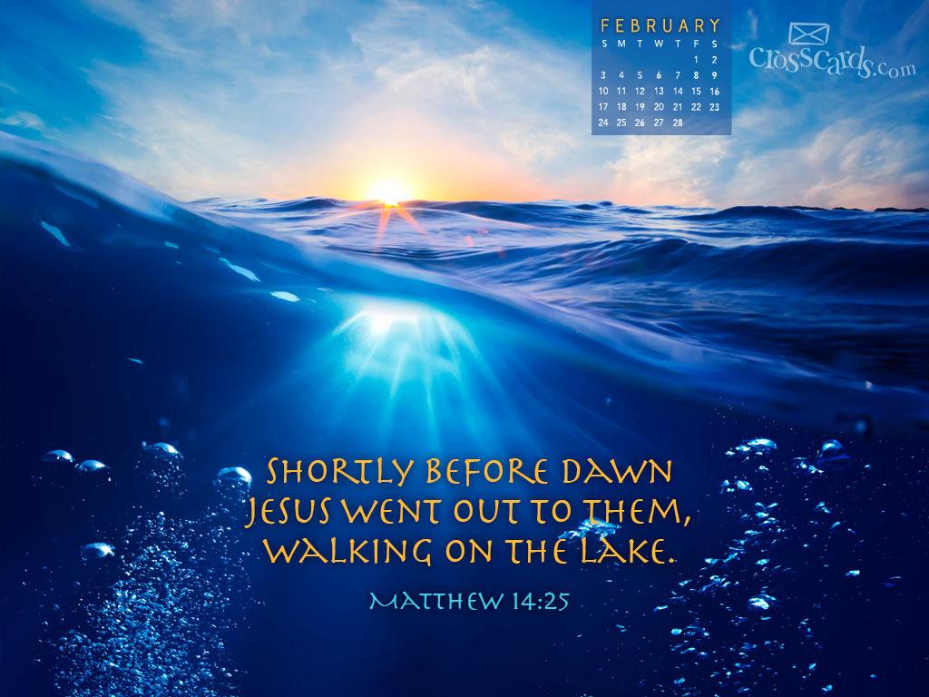 Christian Wallpaper Calendar : Feb matthew desktop calendar free monthly