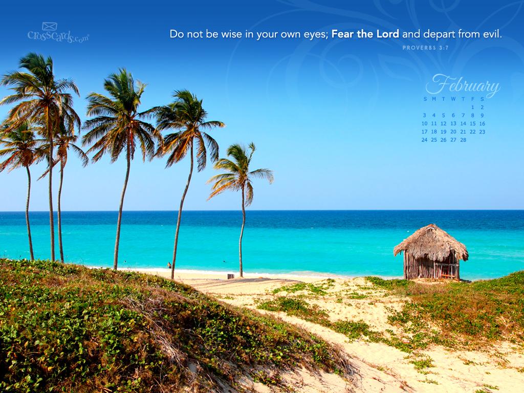 Christian Wallpaper Calendar : Feb proverbs kjv desktop calendar free monthly