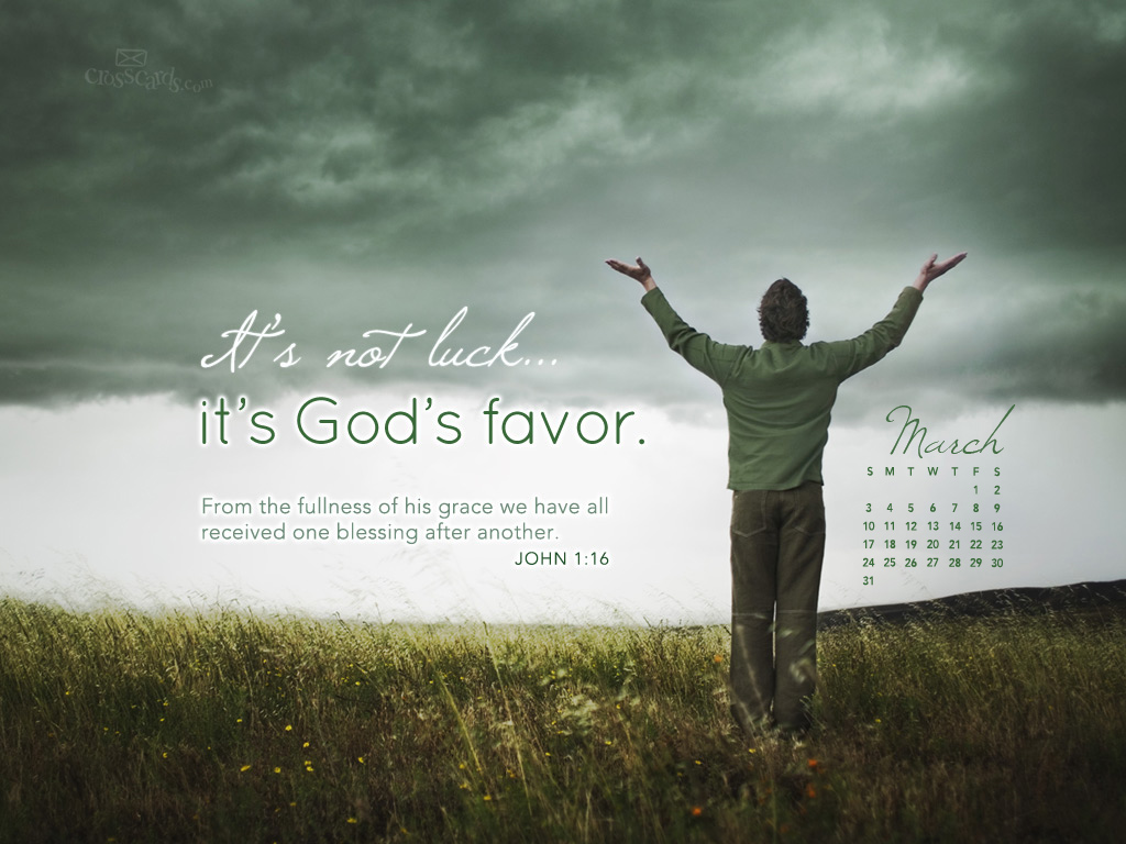 March 2013 - God's Favor