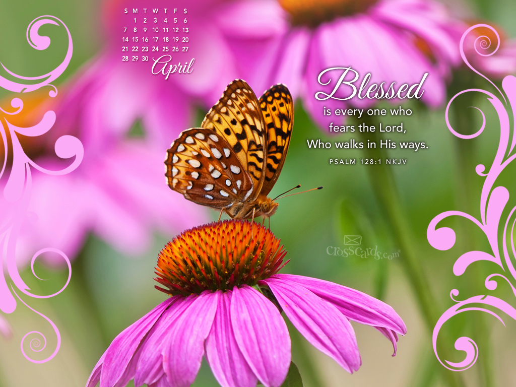April Calendar Screensaver : April psalm nkjv desktop calendar free