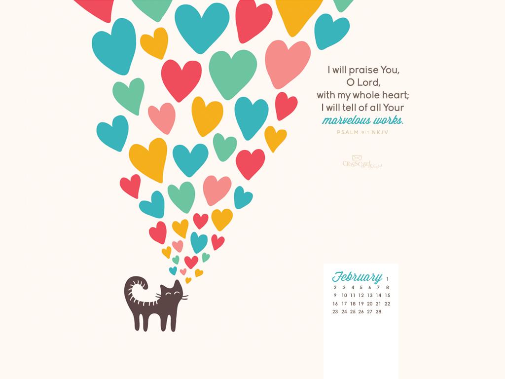 February 2014 - Psalm 9:1 NKJV