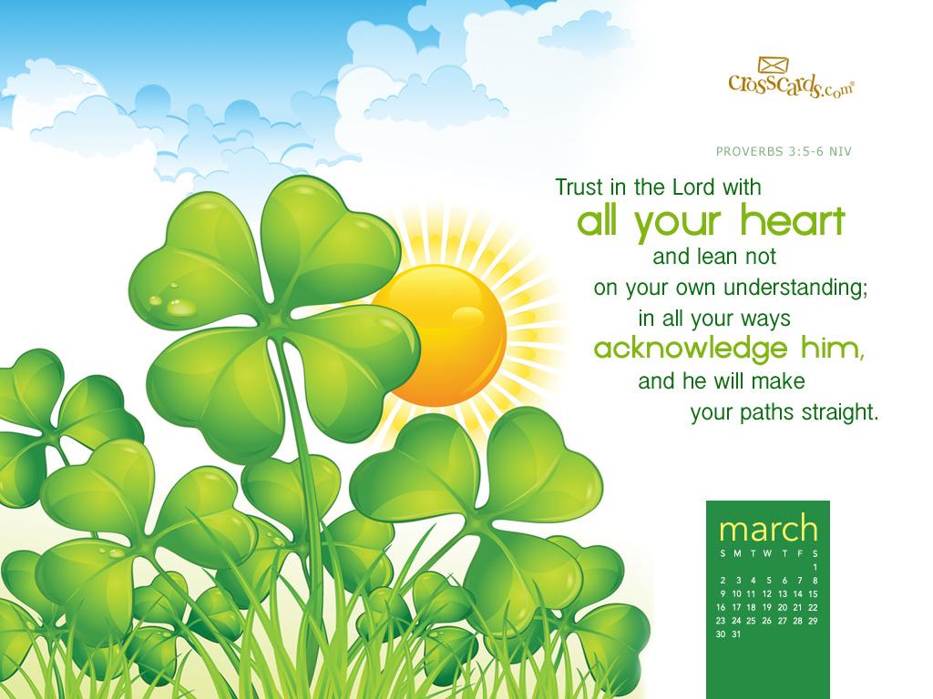 March 2014 - Proverbs 3:5-6 NIV