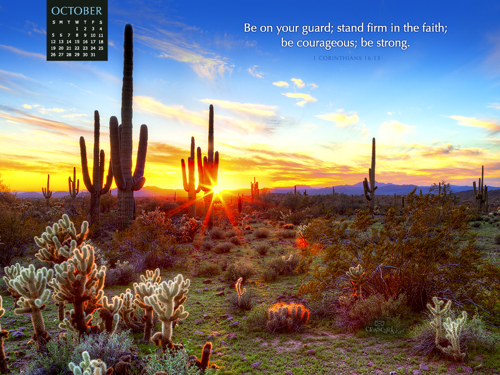 October 2014 1 corinthians 16 13 desktop calendar free - Crosscards christian wallpaper ...
