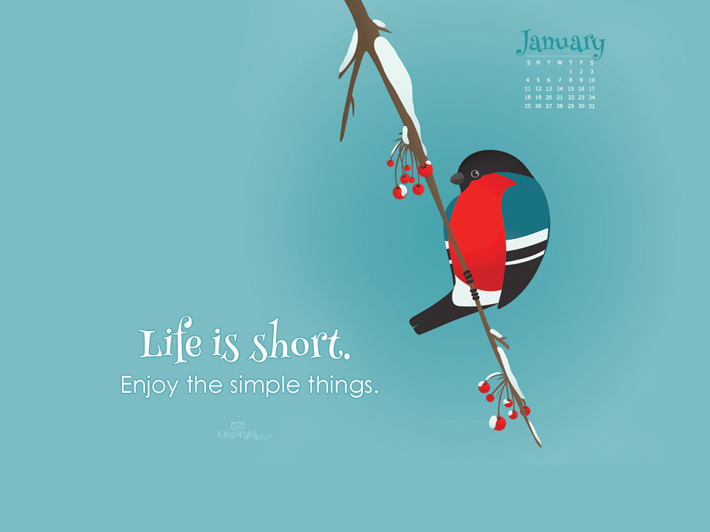 January 2015 life is short wallpaper - Crosscards christian wallpaper ...
