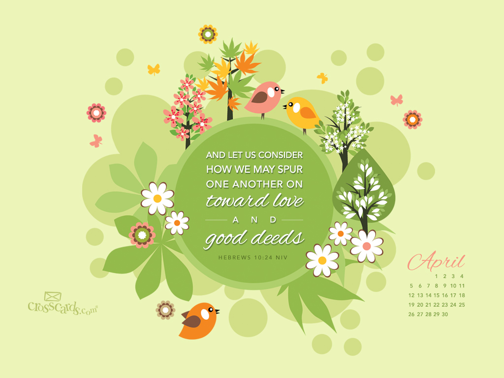April Calendar Screensaver : April good deeds desktop calendar free monthly