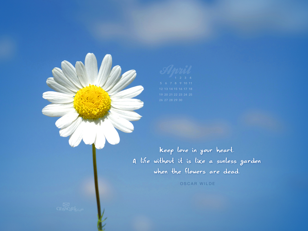 Love in Your Heart Desktop Calendar- Free Monthly Calendars Wallpaper ...