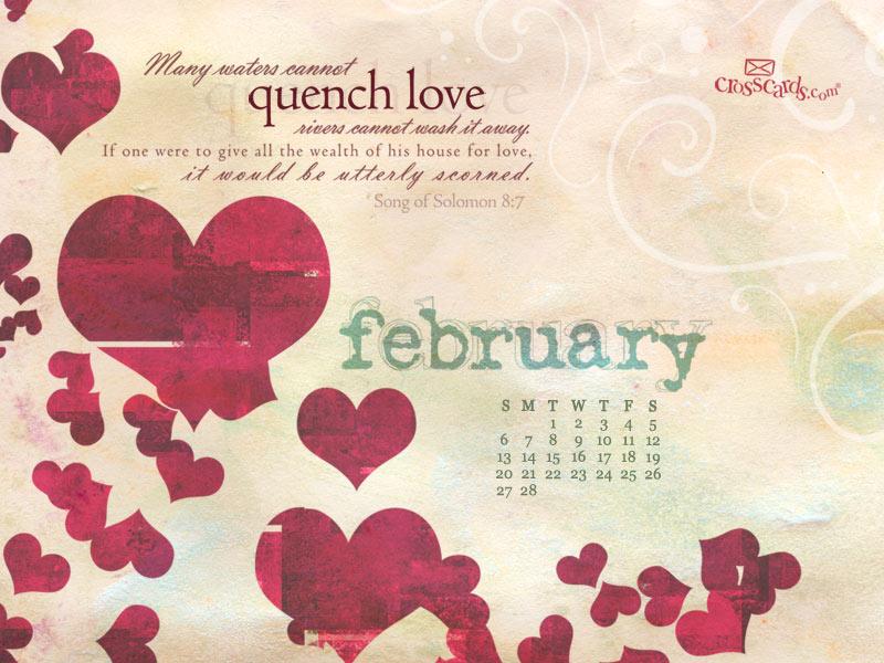 February 2011 - Song of Solomon 8:7