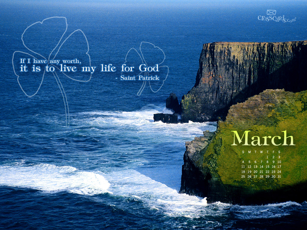 March 2012 - St. Patrick - Wallpaper