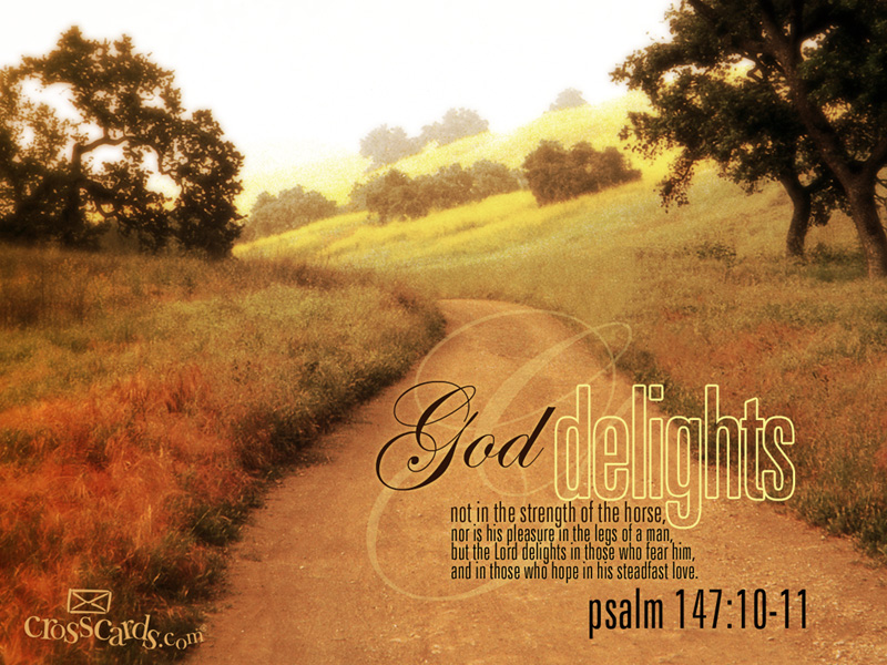 God Delights Desktop Wallpaper - Free Scripture Verses Backgrounds