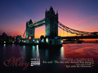 London Bridge at Night - Wallpaper