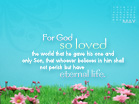 May 2011 - John 3:16
