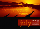 July 2010 - Giraffes - Wallpaper