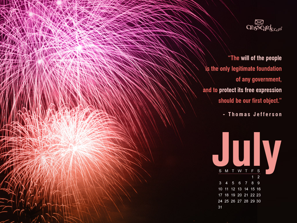 July 2011 -  Fireworks - Wallpaper