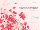 Feb 2013 - 2 Tim 1:7 NIV - Wallpaper