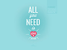 February 2014 - Love and Jesus - Wallpaper