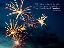 July 2012 - Fireworks - Wallpaper