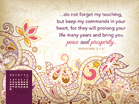 June 2013 - Proverbs 3:1-2 - Free Christian Wallpaper