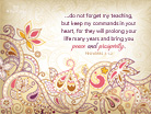 Proverbs 3:1-2 - Wallpaper