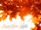 Oct 2012 - Autumn Blessings - Wallpaper