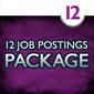 12 Job Postings (1 month each)
