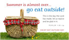 Eat Outside Day (8/31) - Ecard
