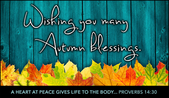 Autumn Blessings - Wallpaper