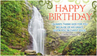 Birthday Waterfall - Ecard