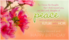 Blessed Birthday - Ecard