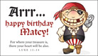 Pirate Birthday - Ecard