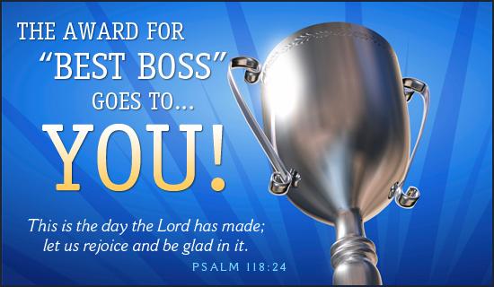 Best Boss Boss Day Holidays eCard - Free Christian Ecards Online ...