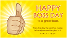 Happy Boss Day - Ecard