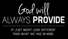 God Will Provide - Ecard