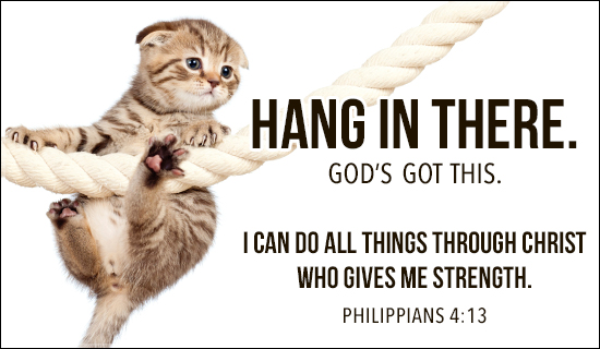 Hang in There - Wallpaper